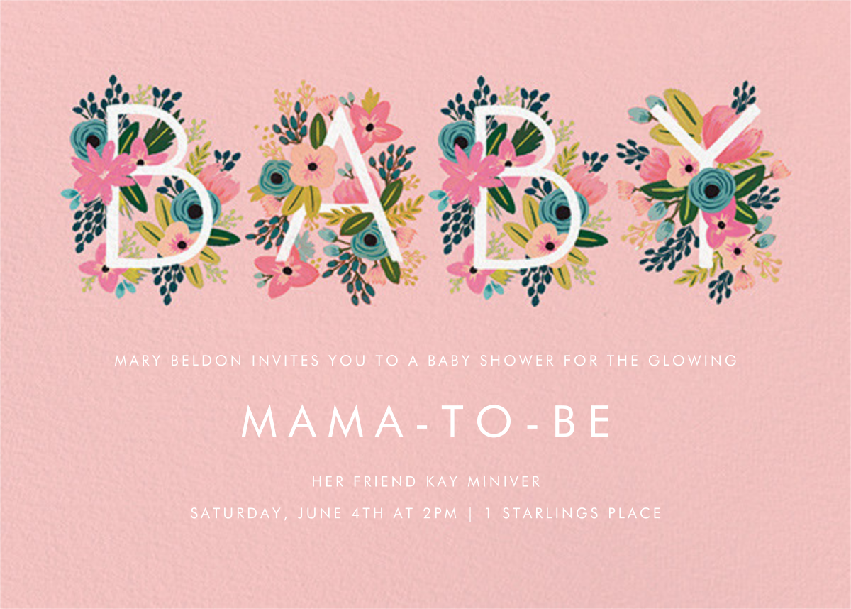Floral Baby - Rifle Paper Co. - Baby shower
