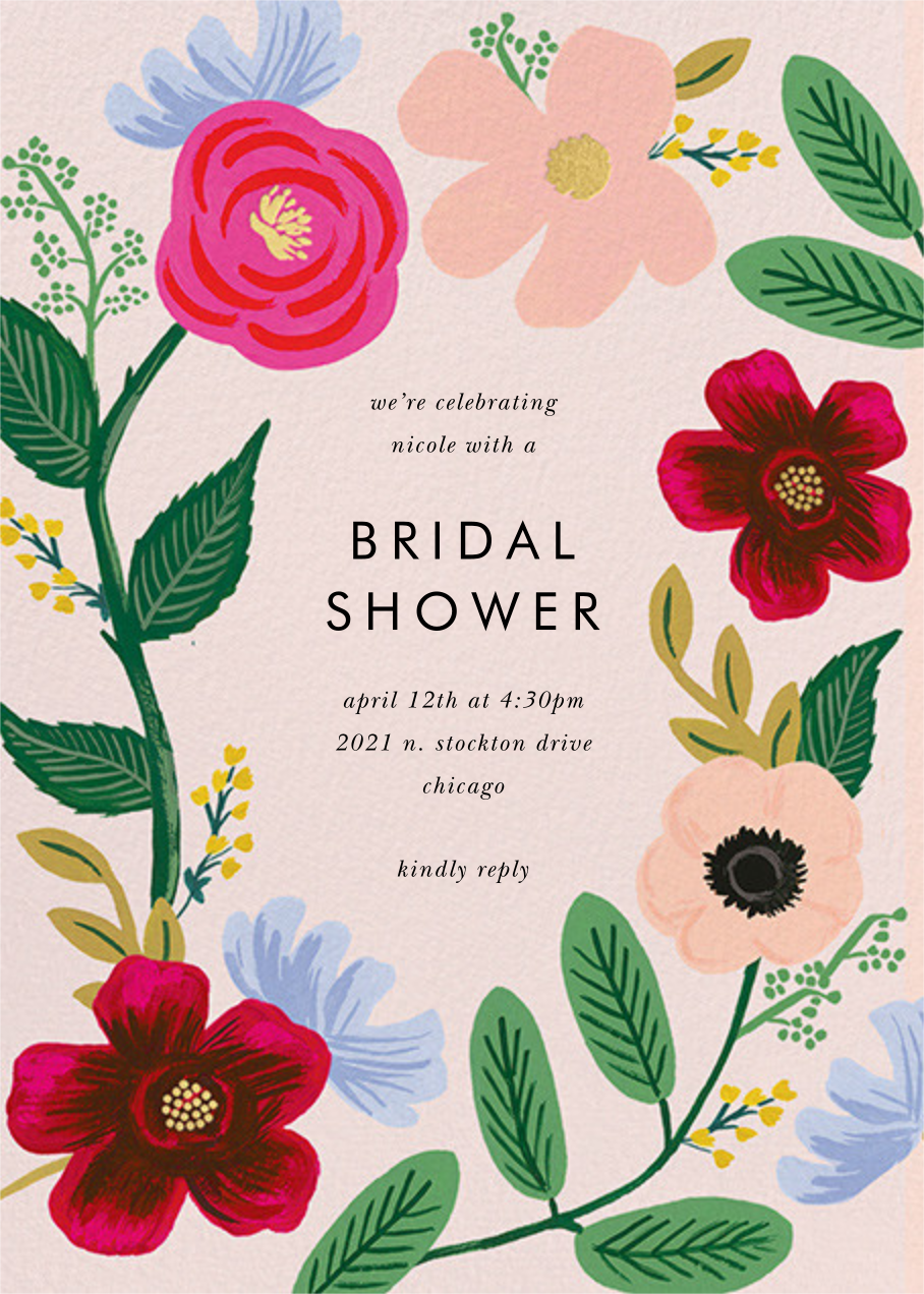 Wild Rose - Rifle Paper Co. - Bridal shower