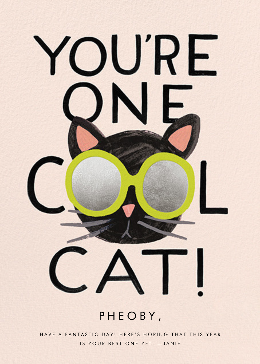 Cool Cat - Rifle Paper Co. - Birthday