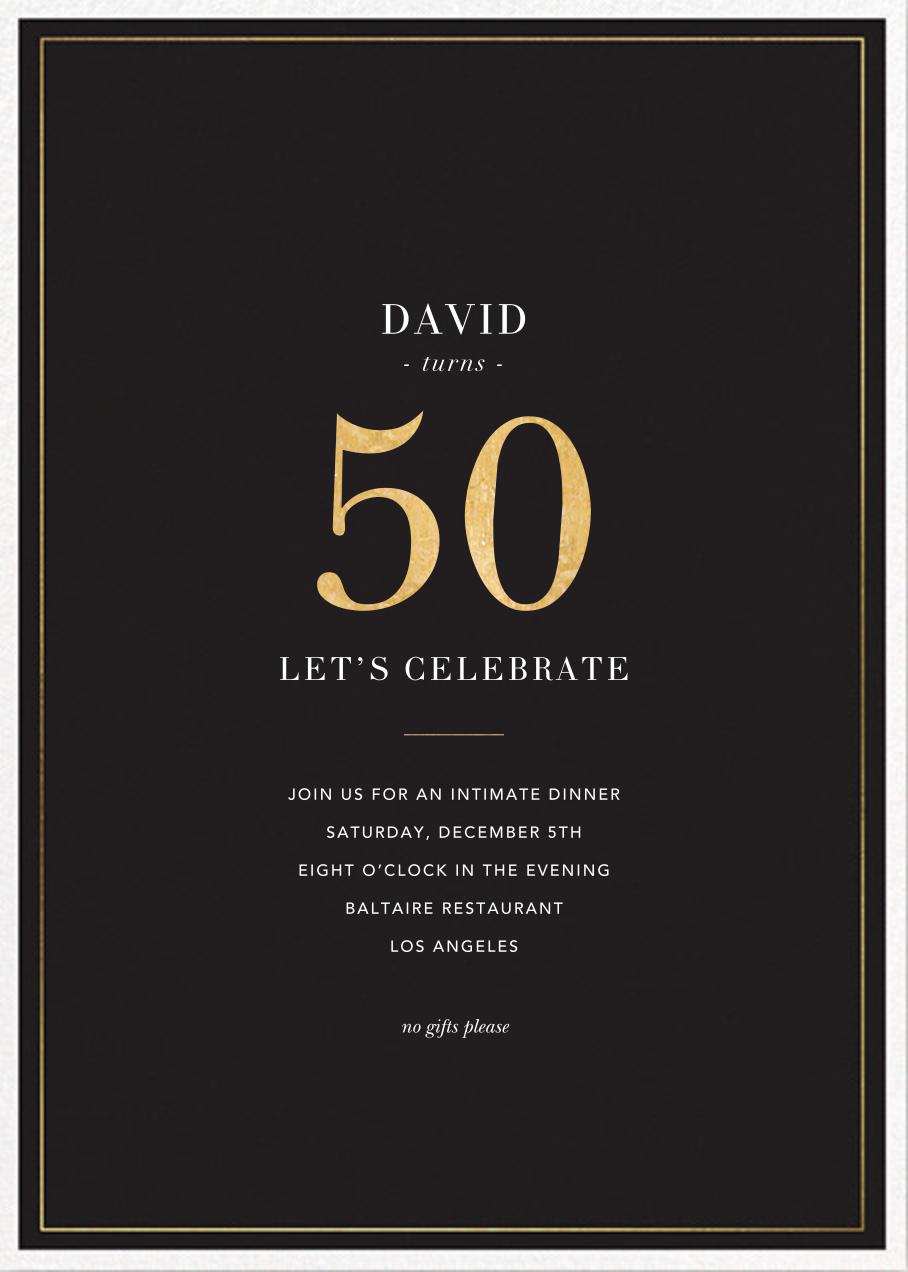 Refined Birthday - Sugar Paper - 50th birthday invitations