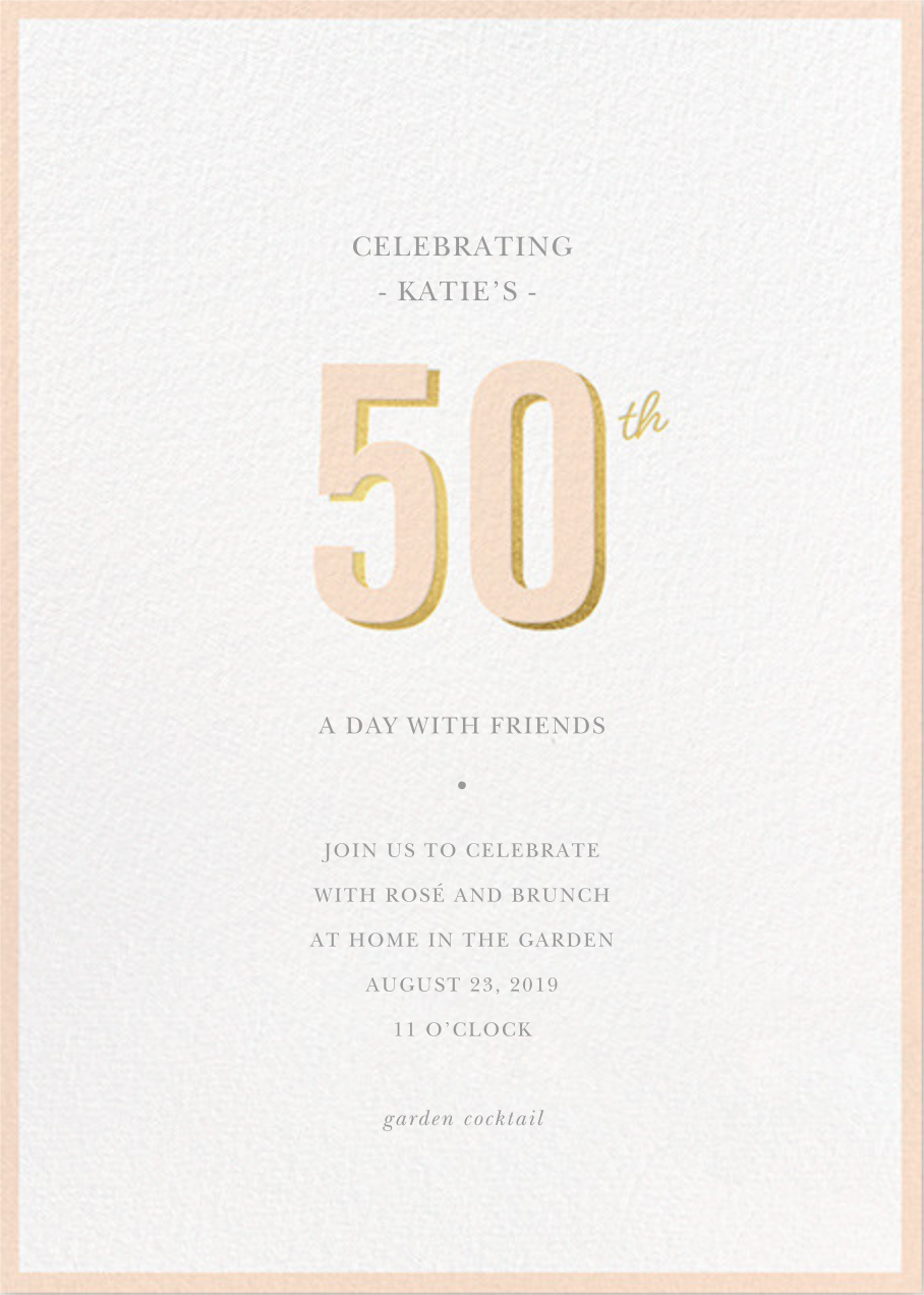 Pop of Gold - 50 - Sugar Paper - Adult birthday
