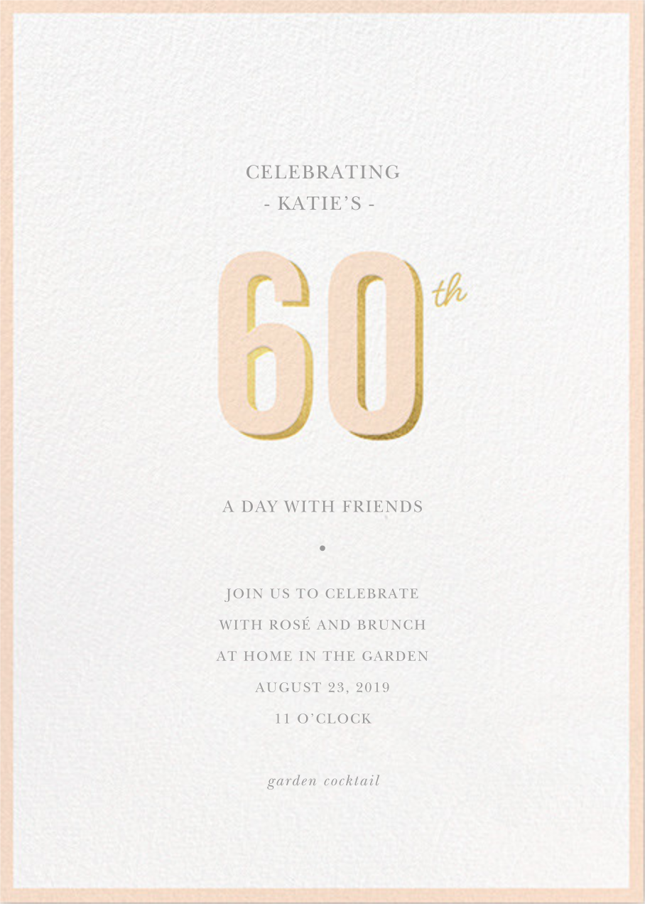Pop of Gold - 60 - Sugar Paper - Adult birthday