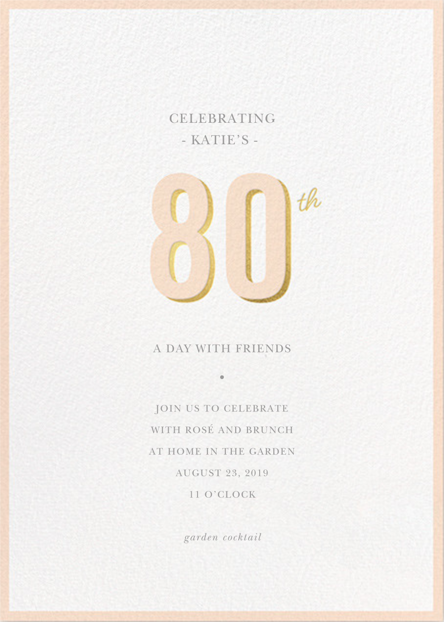 Pop of Gold - 80 - Sugar Paper - Adult birthday