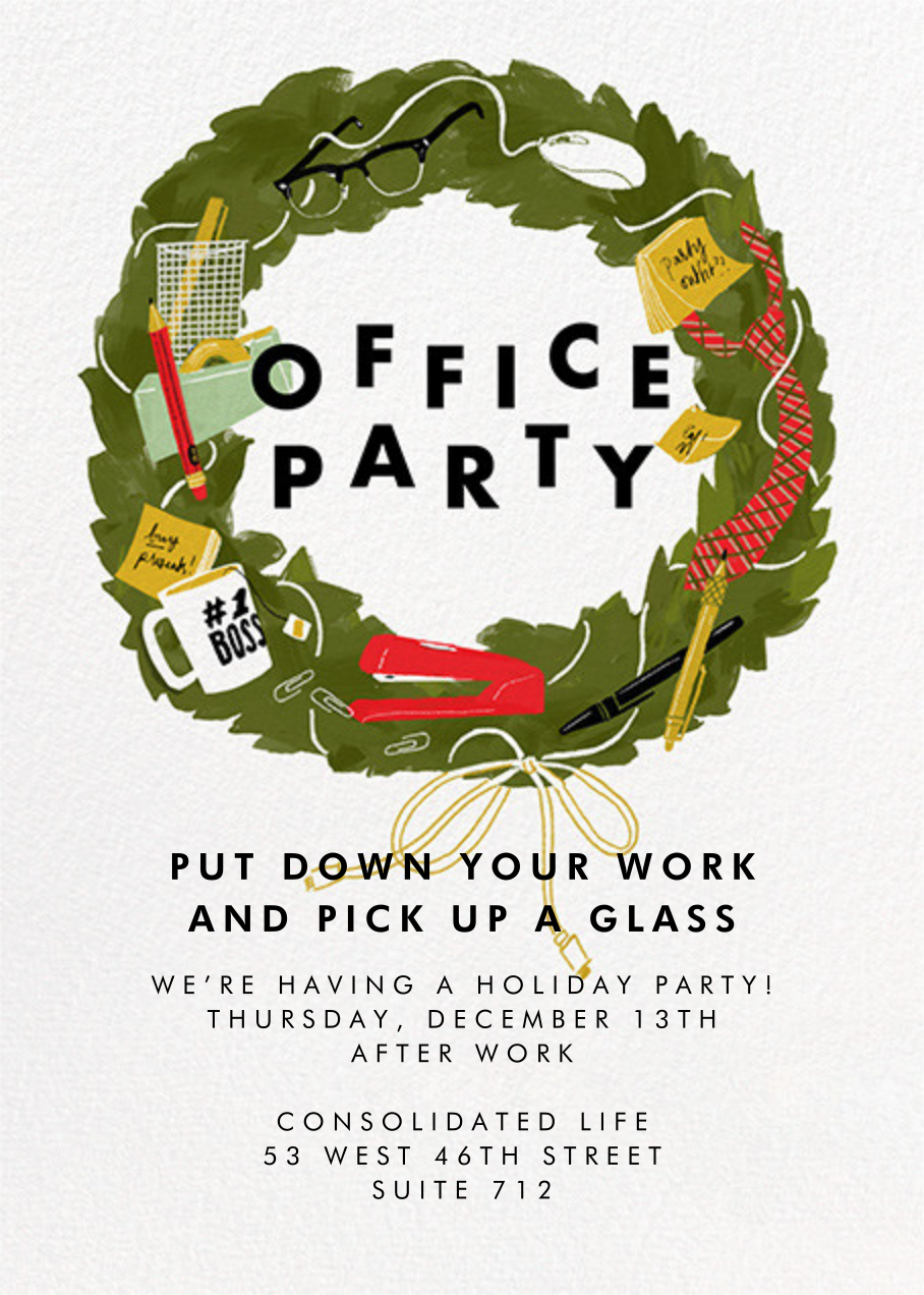From Desk 'Til Dawn - Paperless Post - Corporate invitations