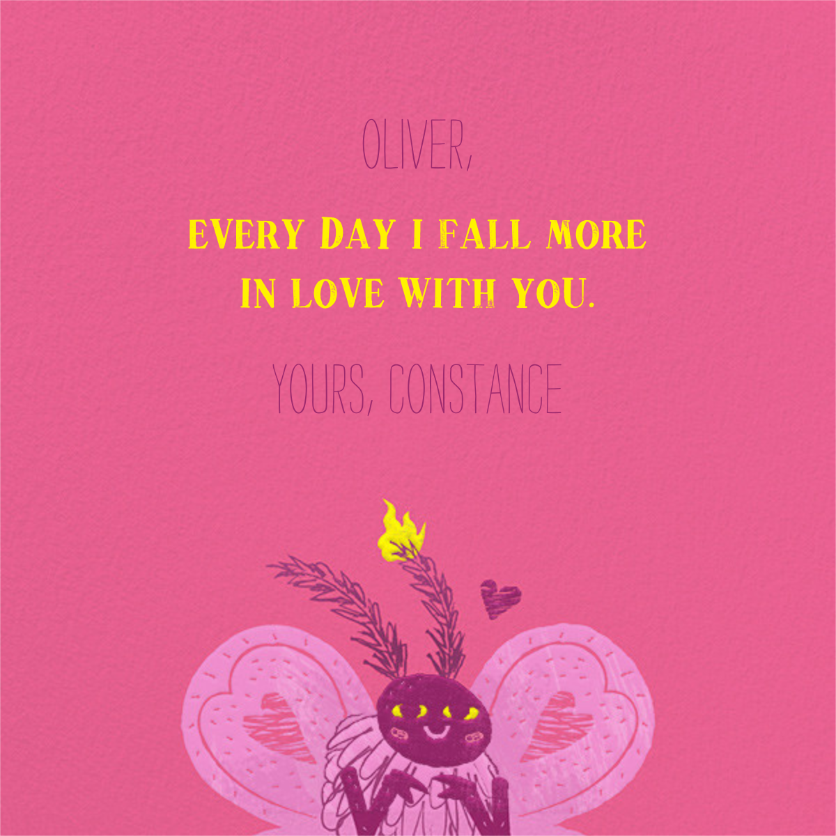Electric Love - Paperless Post - Valentine's Day - card back
