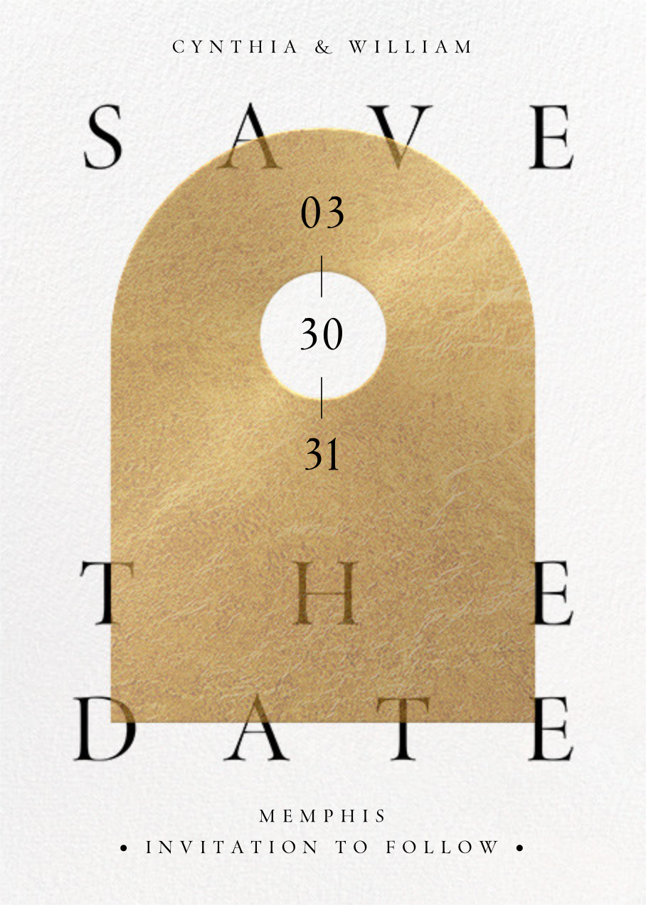 Golden Day - Paperless Post - Save the date