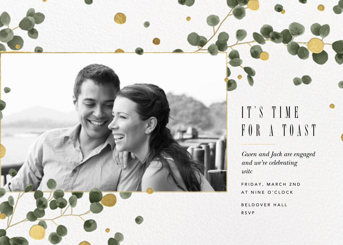 Golden Eucalyptus Photo - Paperless Post - Engagement party