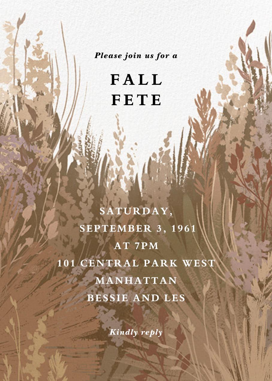 Pampas Grass - Paperless Post - Autumn entertaining