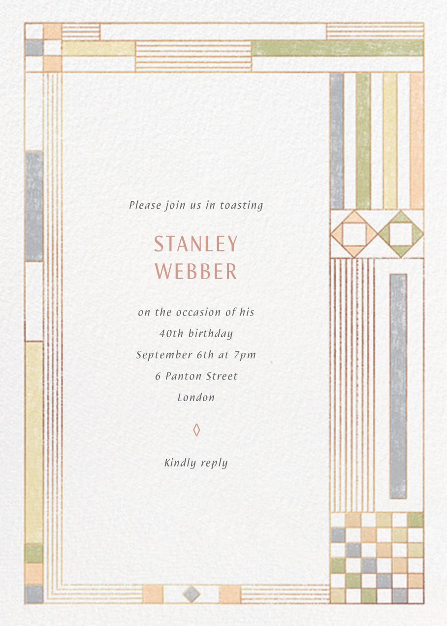 Deco Asymmetry - Pastel - Paperless Post - Adult birthday