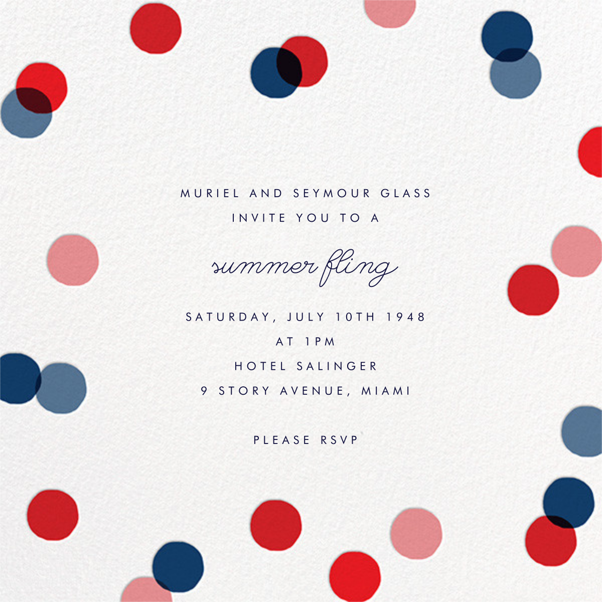 Carnaby - Red/Blue - Paperless Post - Summer entertaining