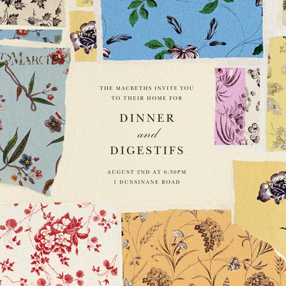 Floral Study - Oscar de la Renta - Dinner party