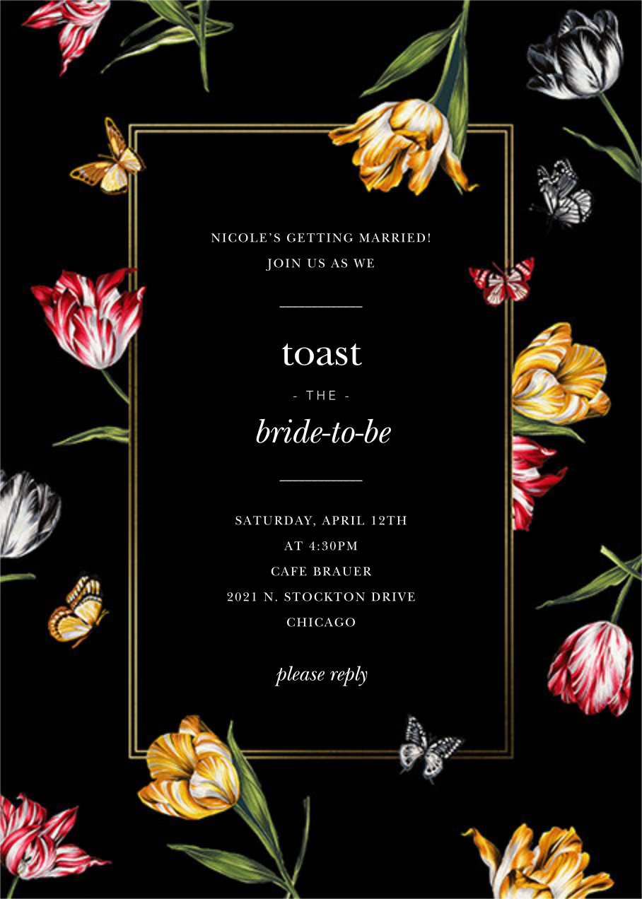 Striped Tulips - Black - Oscar de la Renta - Bridal shower