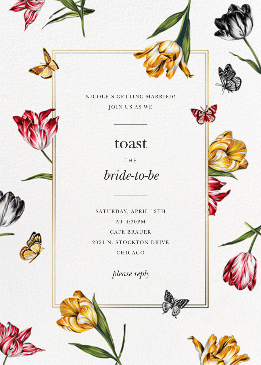 Striped Tulips - White - Oscar de la Renta - Bridal shower