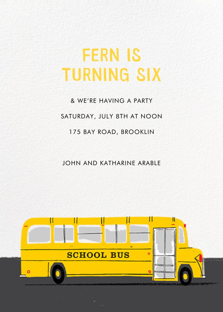 Birthday Bus - Paperless Post - Kids' birthday