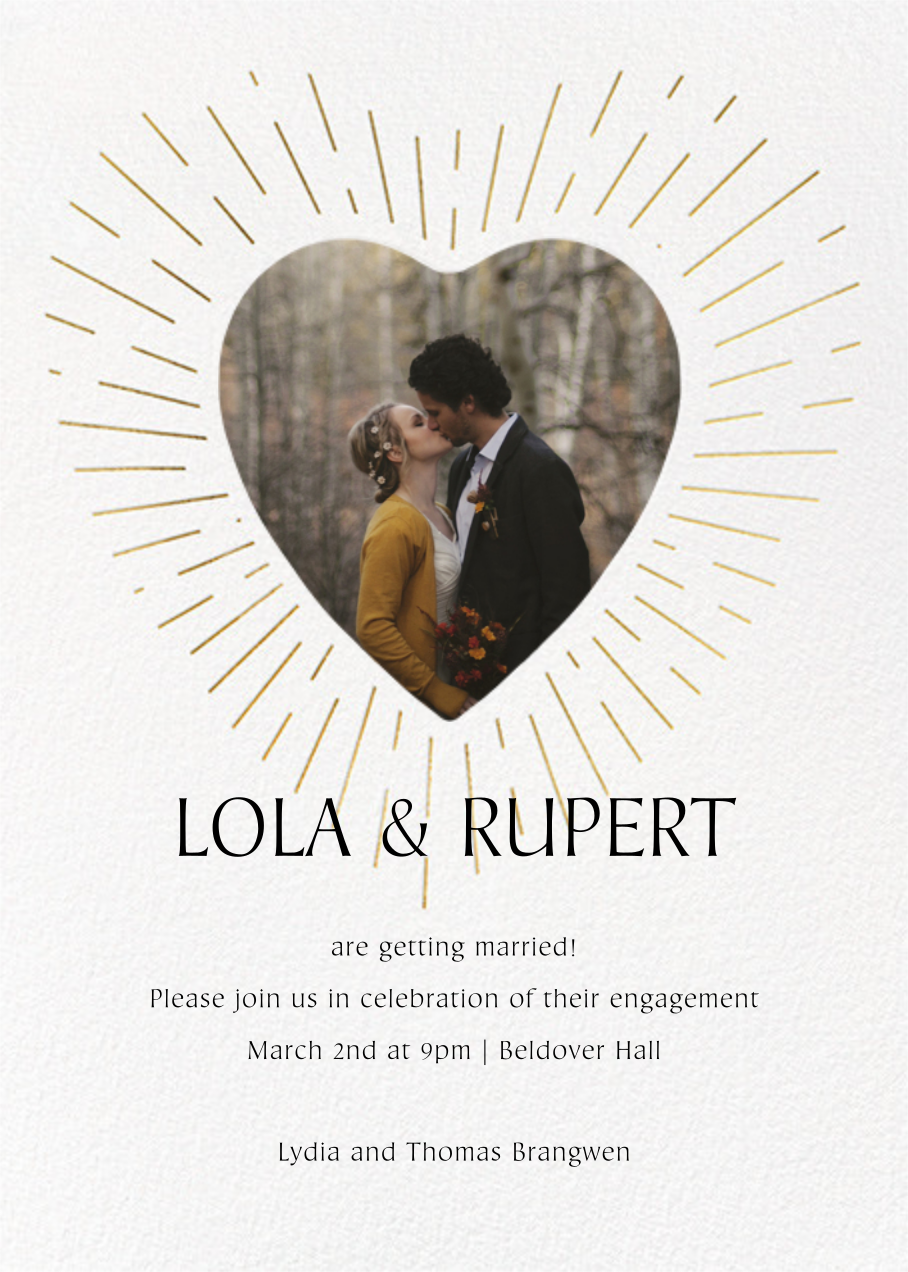 Radiant Love - Paperless Post - Engagement party