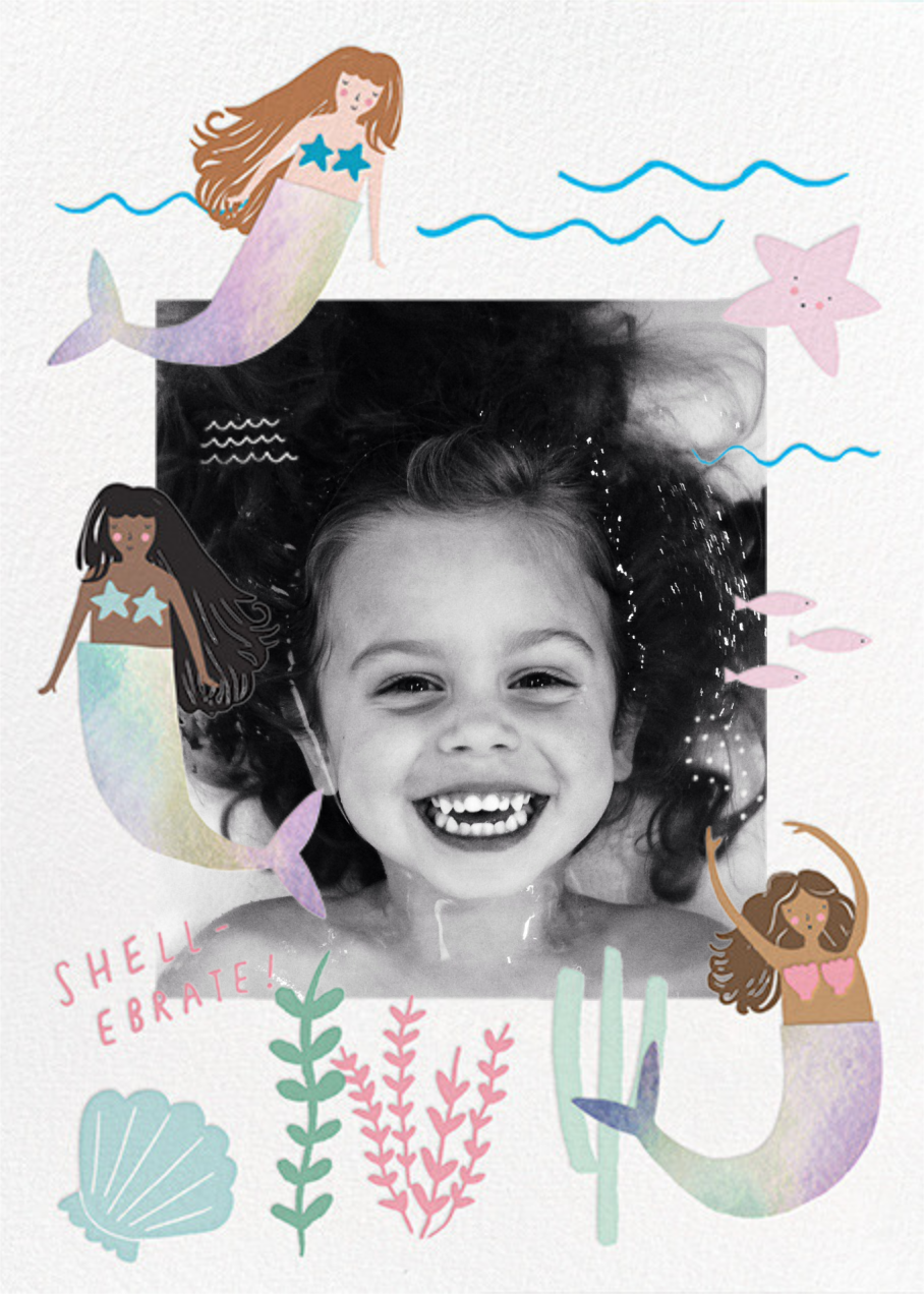 Mermaids in Waiting Photo  - Meri Meri - Mermaid birthday invitations