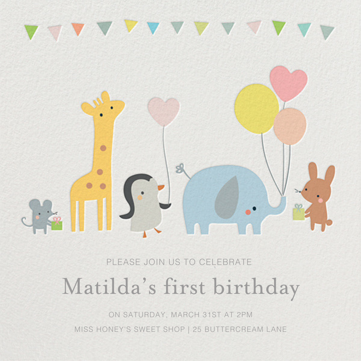 Party March - Little Cube - First birthday