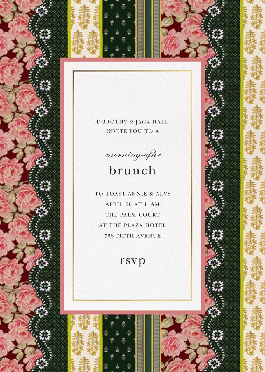 Patchwork Stripe - Oscar de la Renta - Wedding brunch