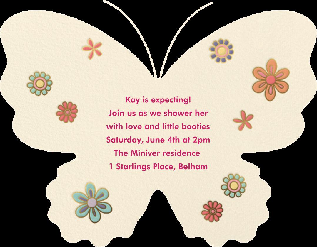 Wingspan - Meri Meri - Woodland baby shower - card back