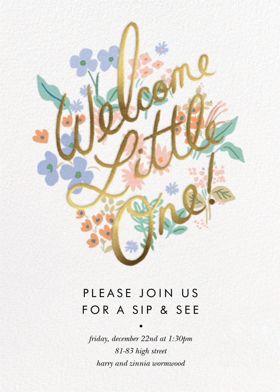 Meadow Welcome Little One - Rifle Paper Co. - Baby shower