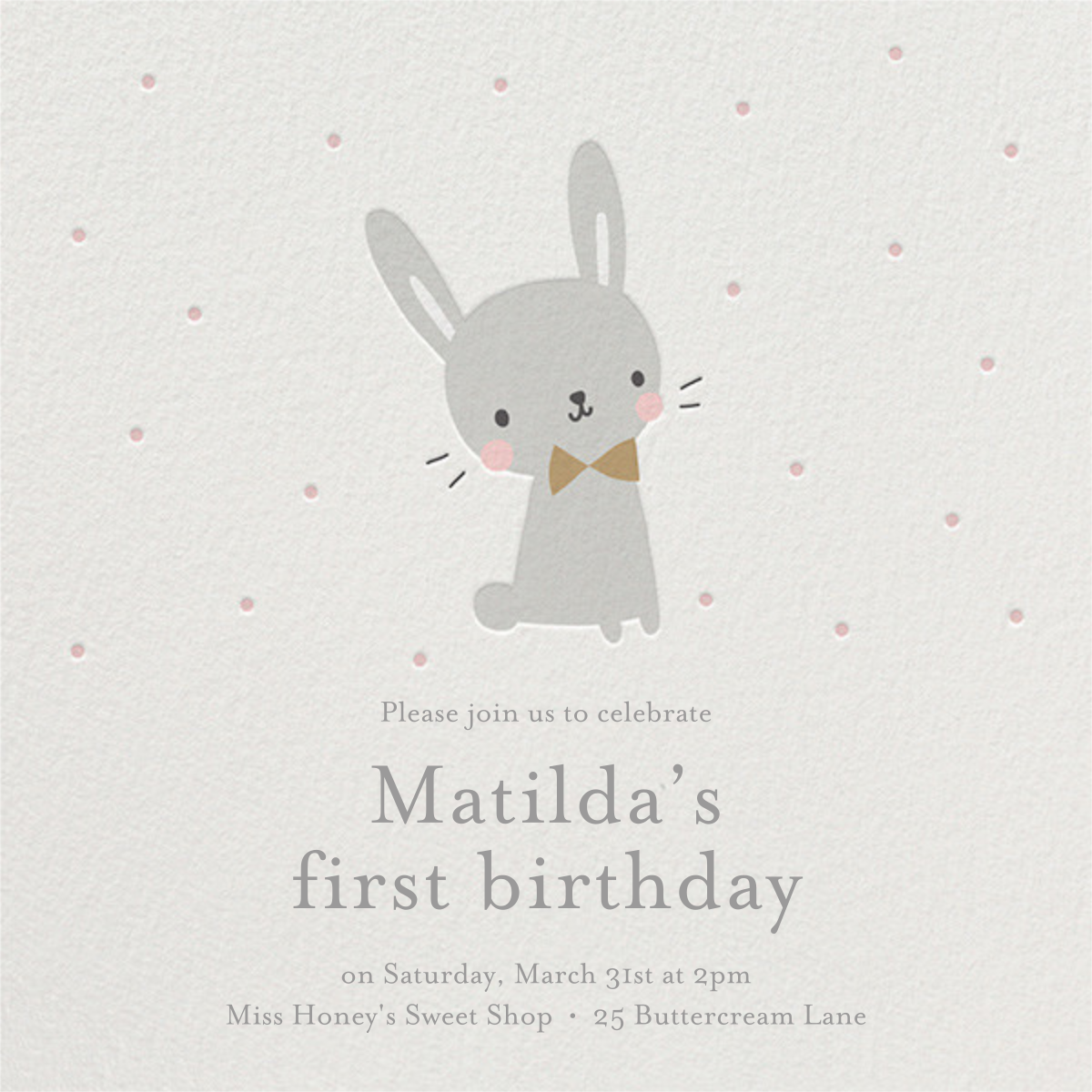 Baby Bunny - Little Cube - First birthday