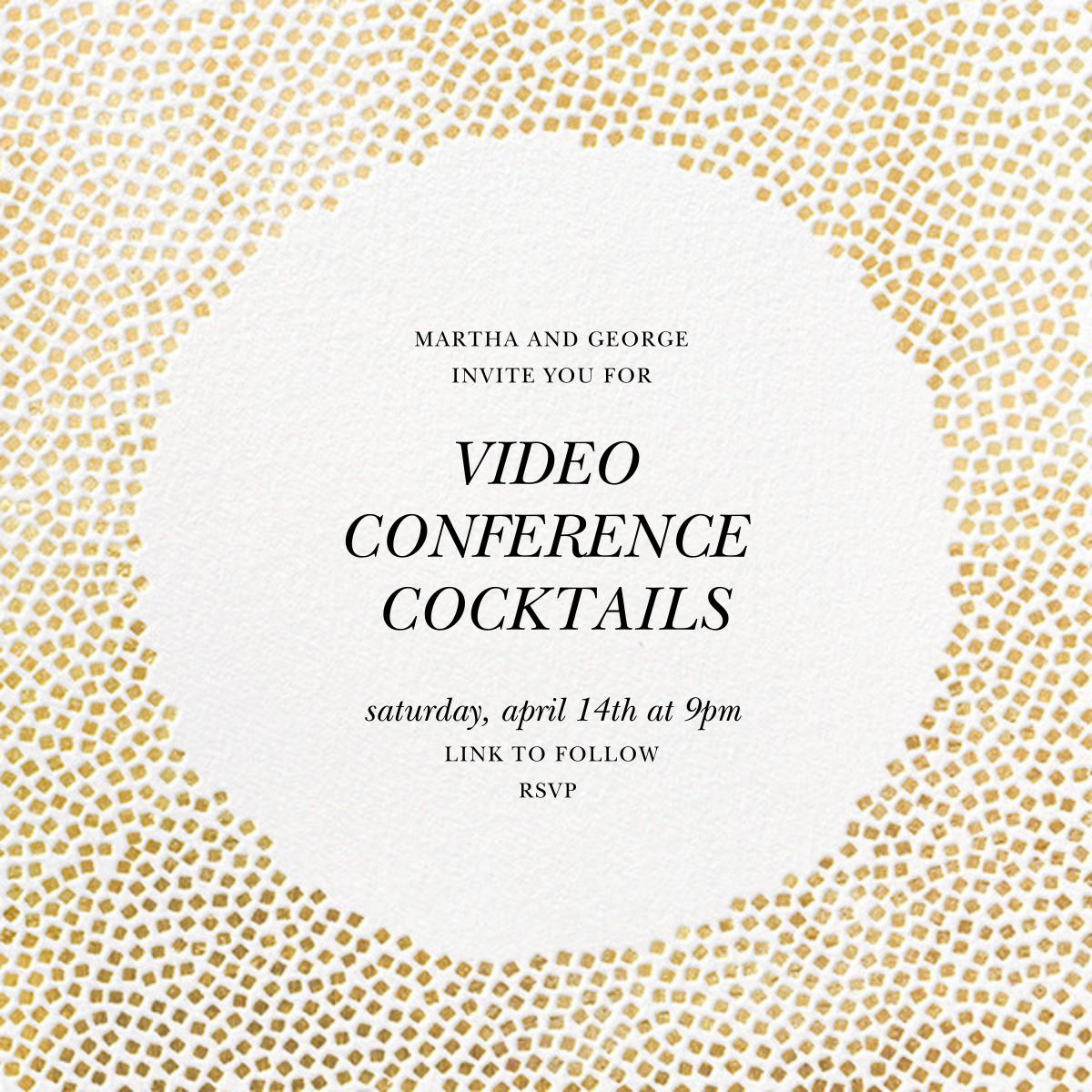 Konfetti - Gold - Kelly Wearstler - Virtual parties