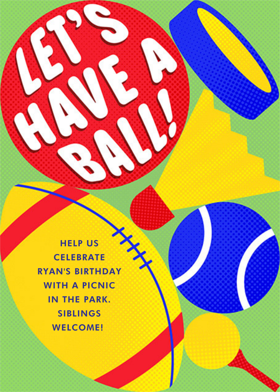 Ball Out - Paperless Post - Kids' birthday