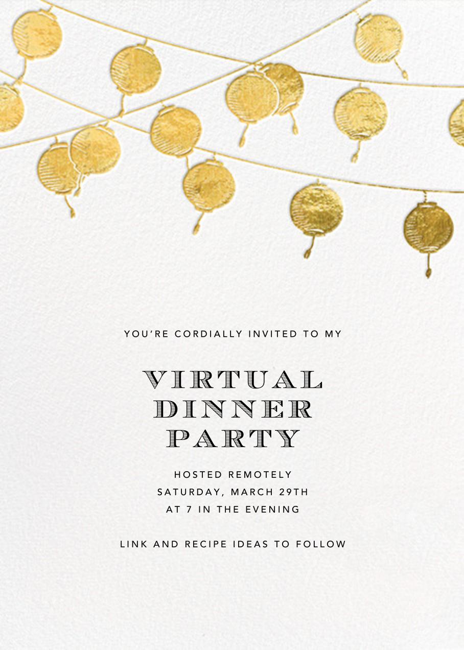 Lanterns - Gold - Paperless Post - Virtual parties