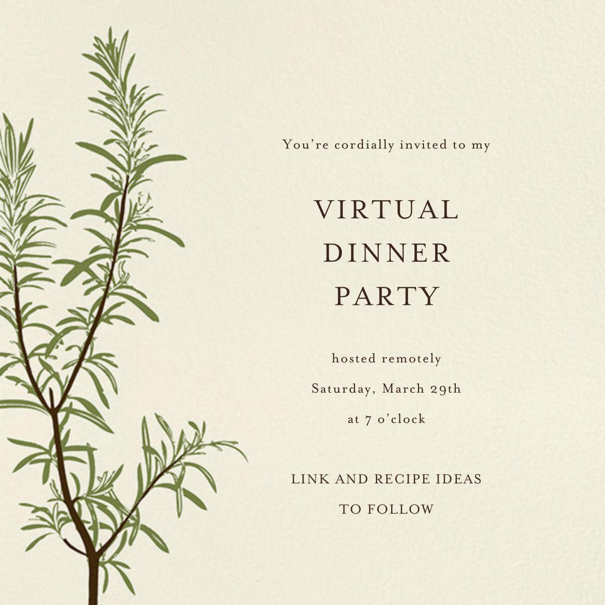 Rosemary - Paperless Post - Virtual parties