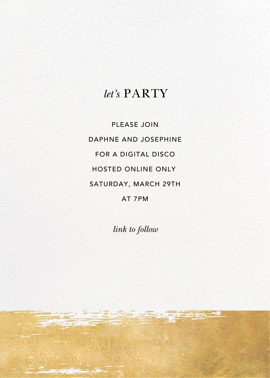 Simple Brushstroke - Sugar Paper - Virtual parties