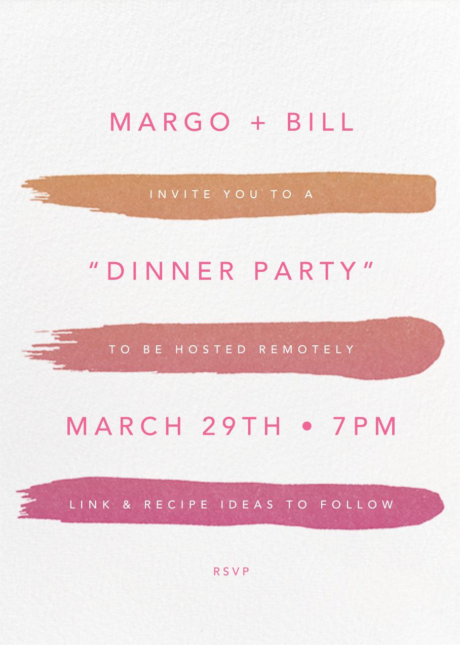 Gradient Brush Strokes - Pink - Paperless Post - Virtual parties