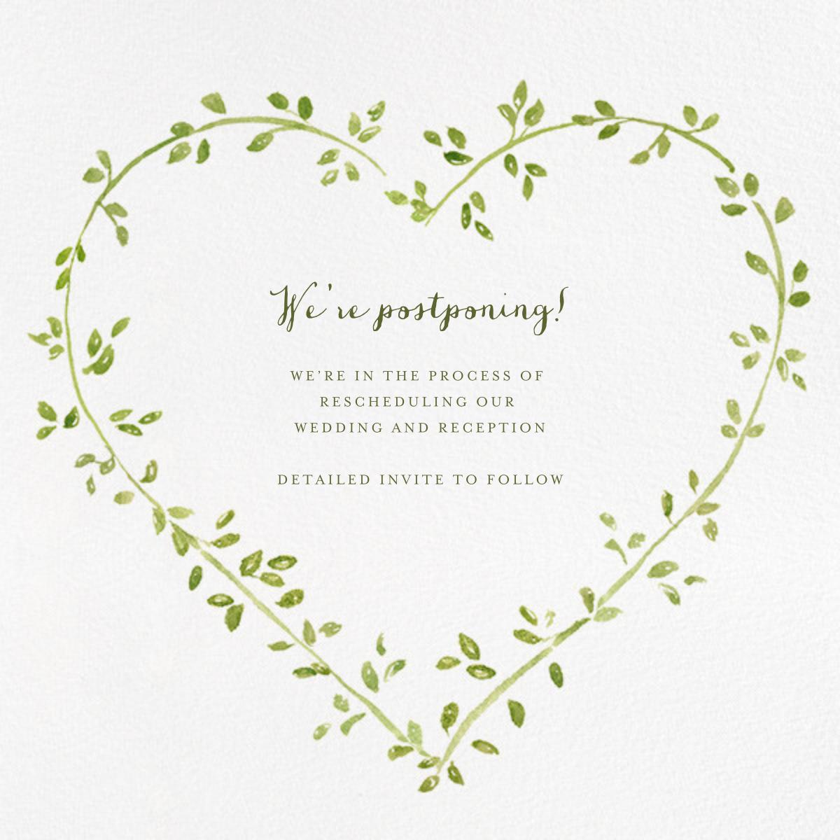 Dahlias (Square) - Paperless Post - Wedding postponement