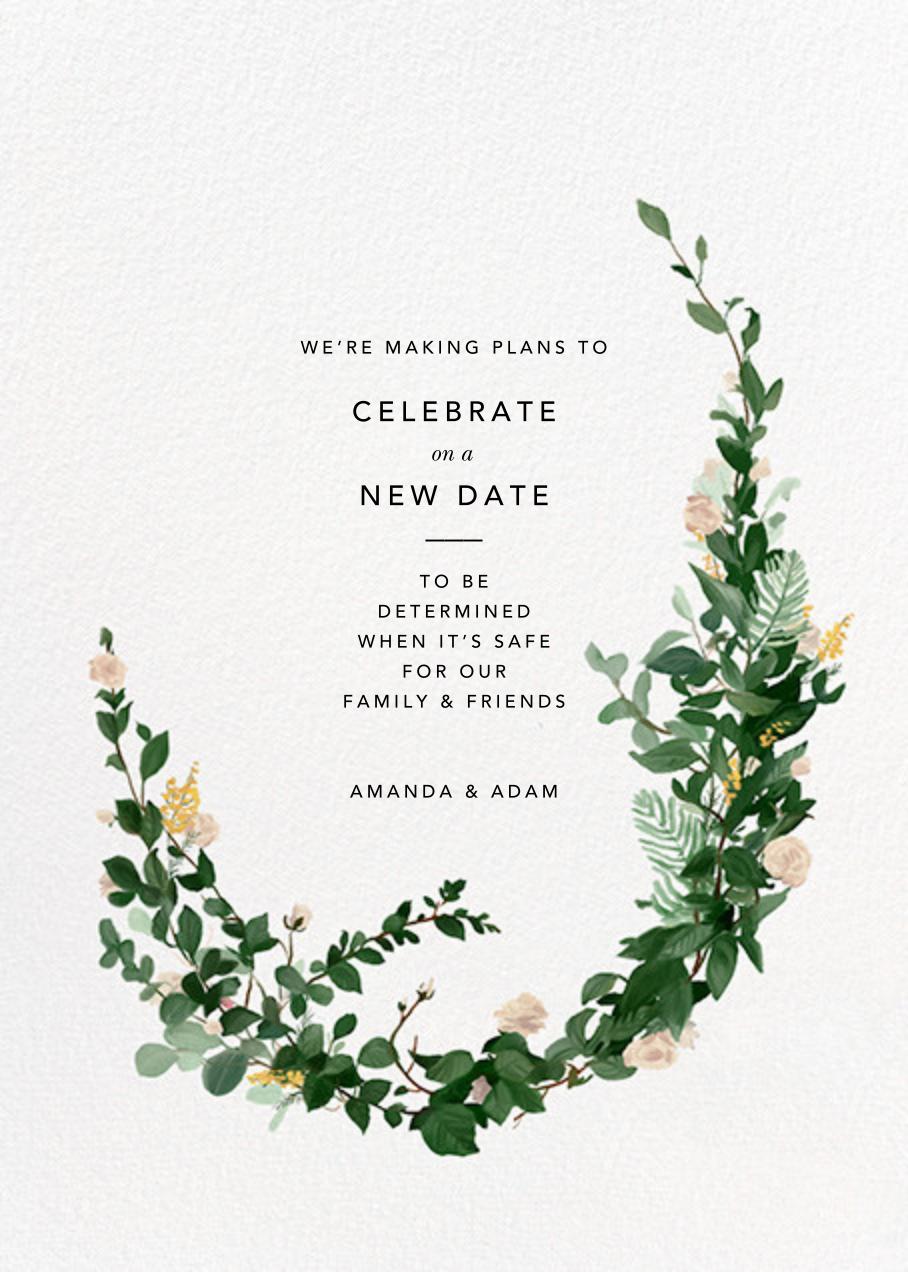 Rosedal - Athena - Paperless Post - Wedding postponement