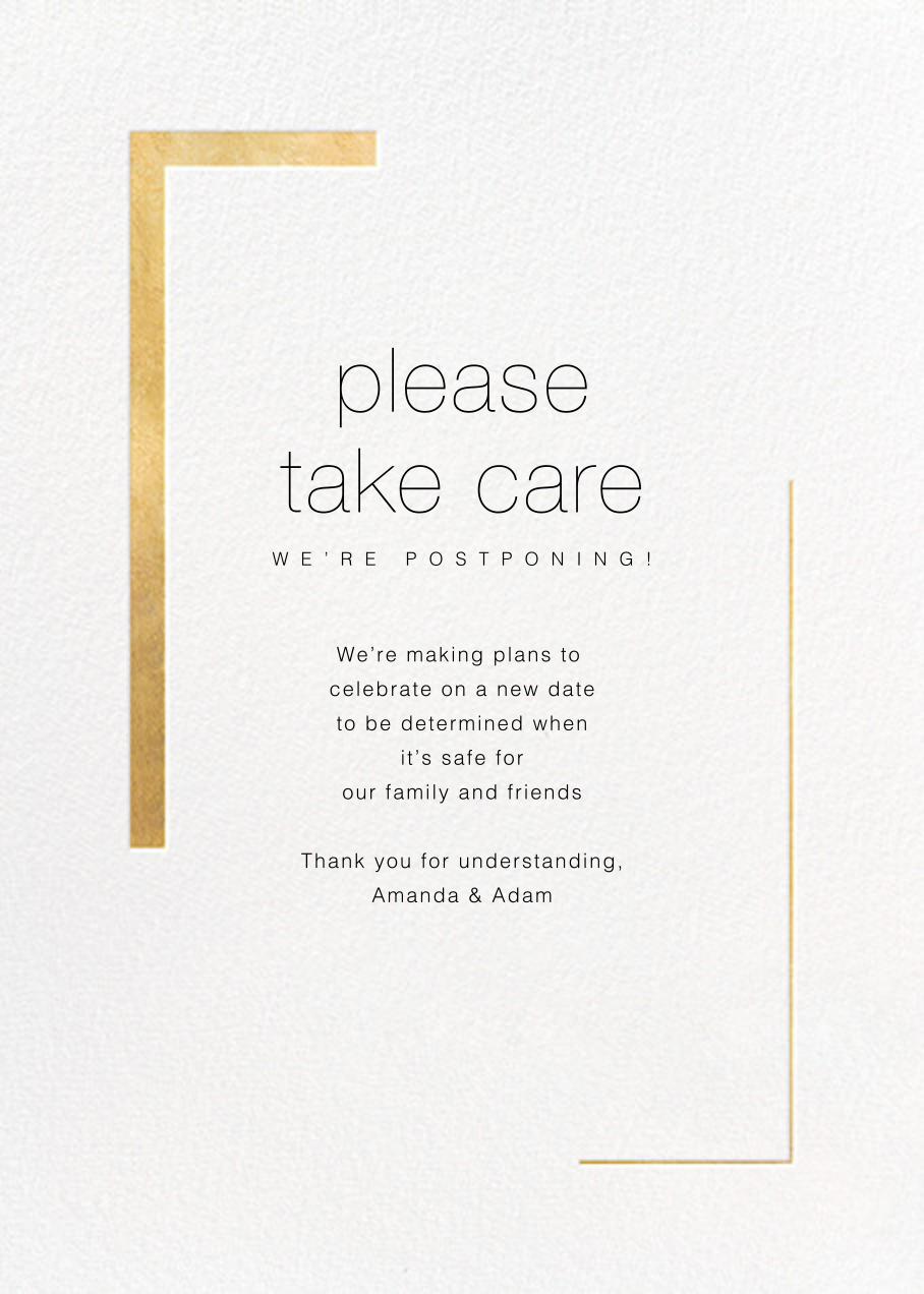 Ando - Gold - Paperless Post - Wedding postponement