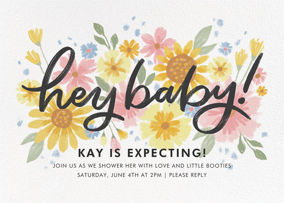Friendly Flowers - Paperless Post - Baby shower