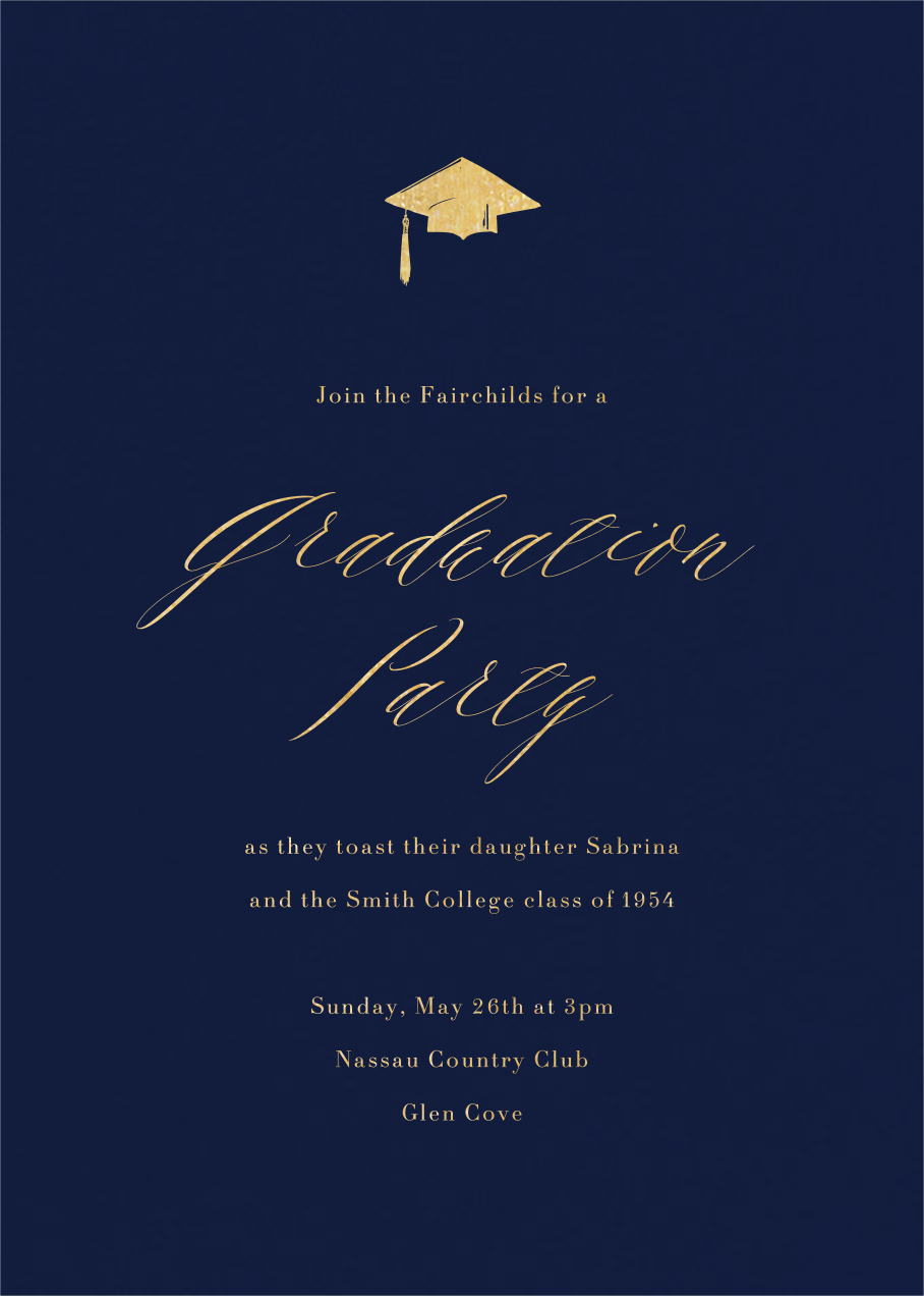 Navy (Tall) - Paperless Post - Graduation party