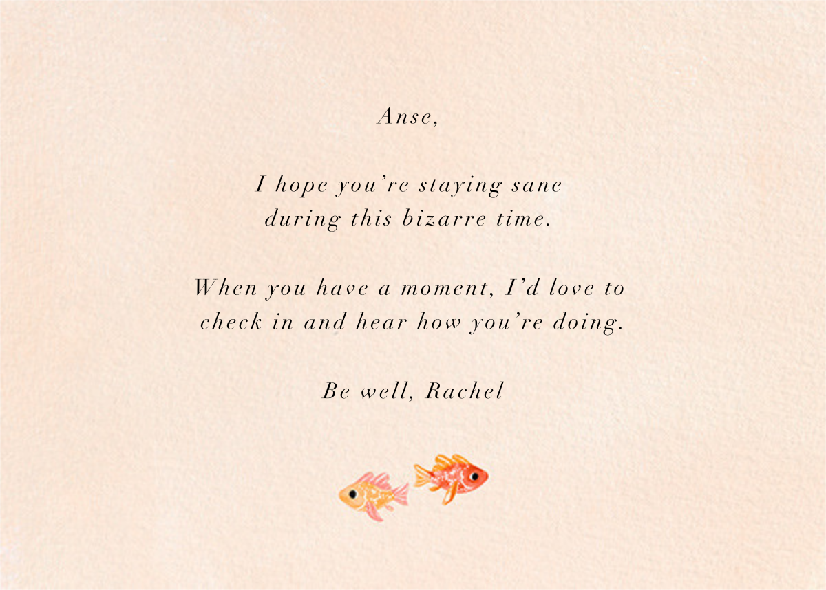 Fish Love - Paperless Post - Thinking of you - card back