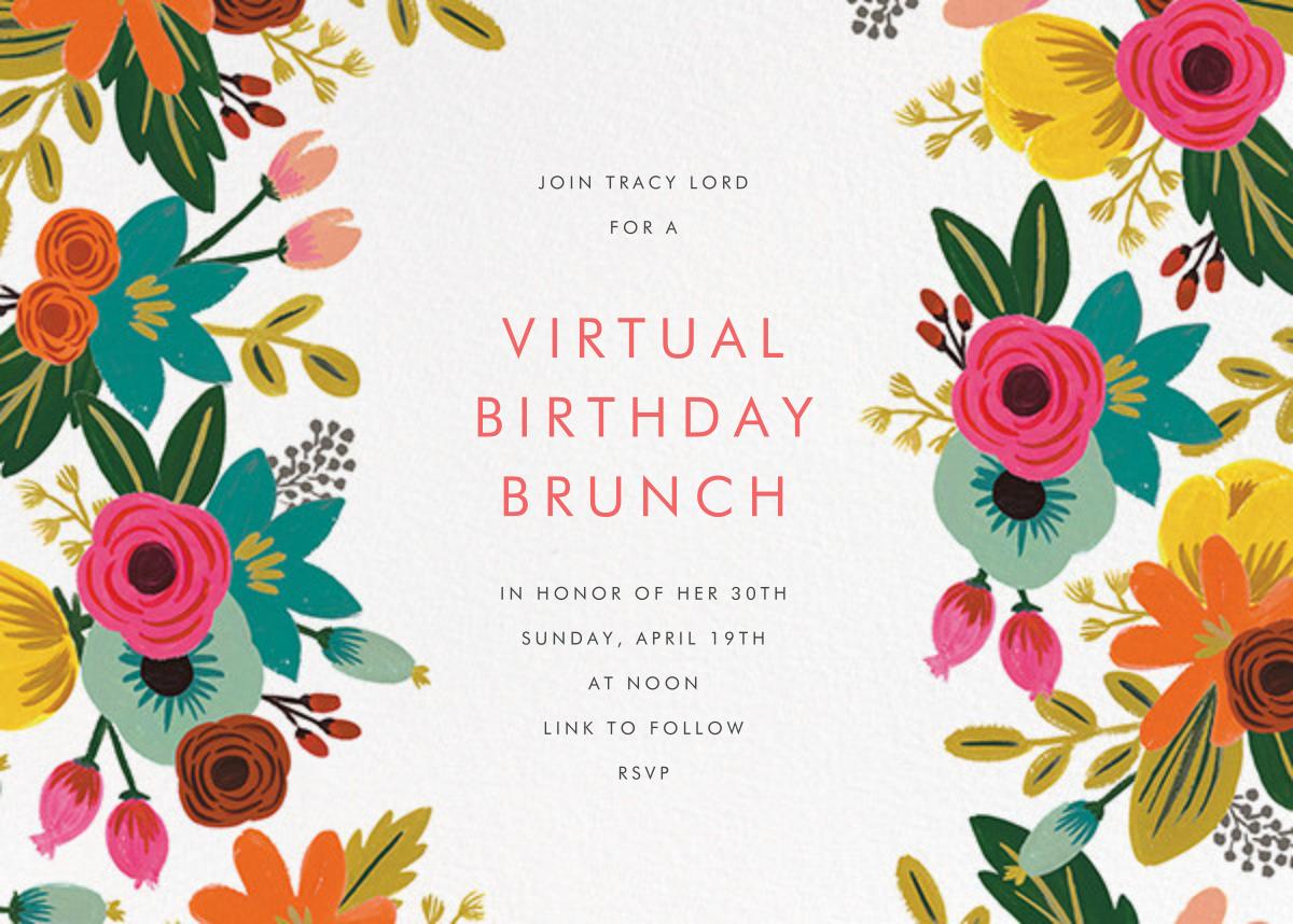 Floral Tropics - Ivory - Rifle Paper Co. - Virtual parties