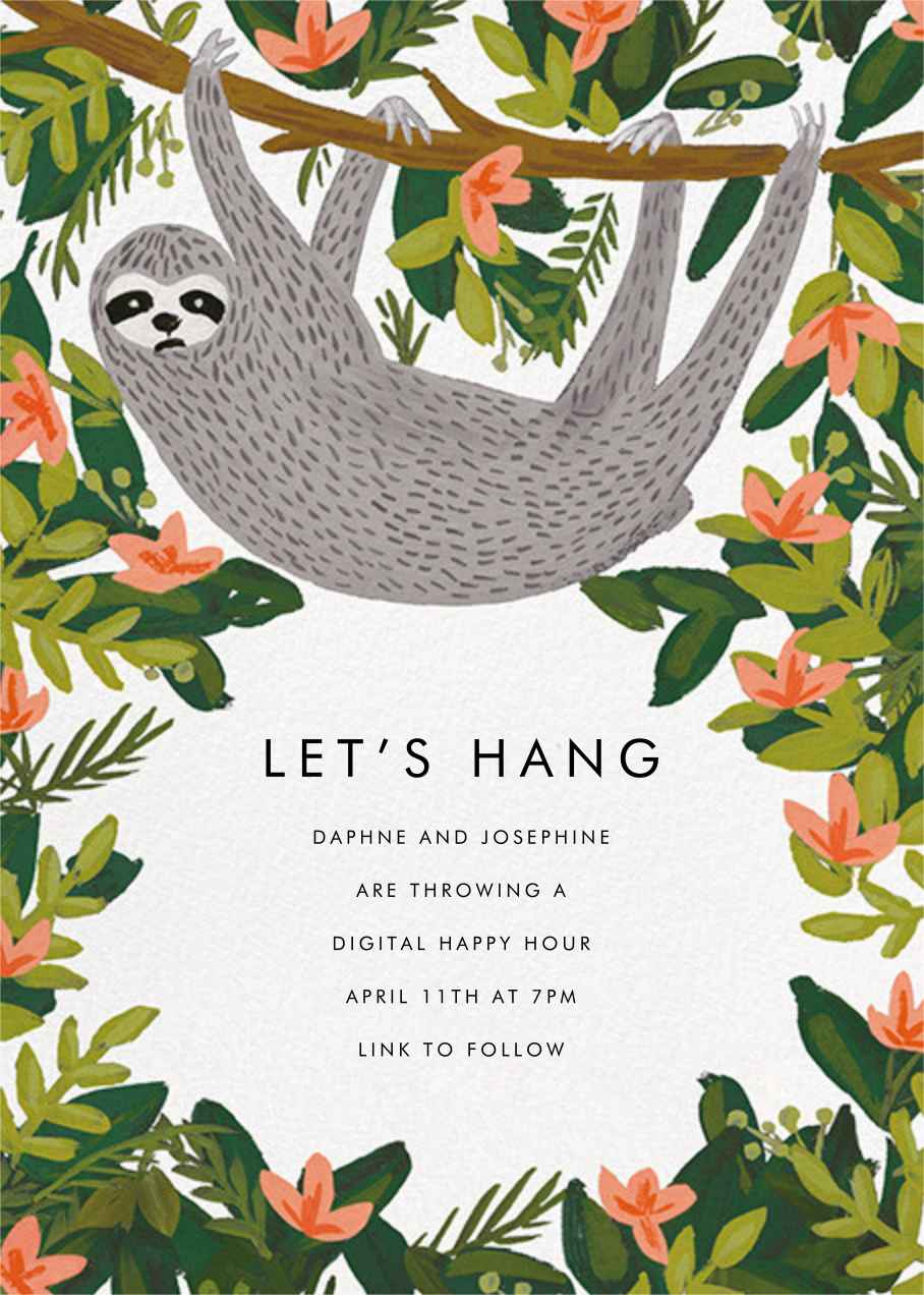 Let's Hang - White - Rifle Paper Co. - Virtual parties