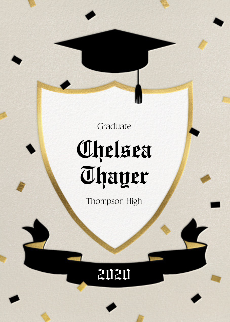 Cap and Plaque - Paperless Post - Graduation