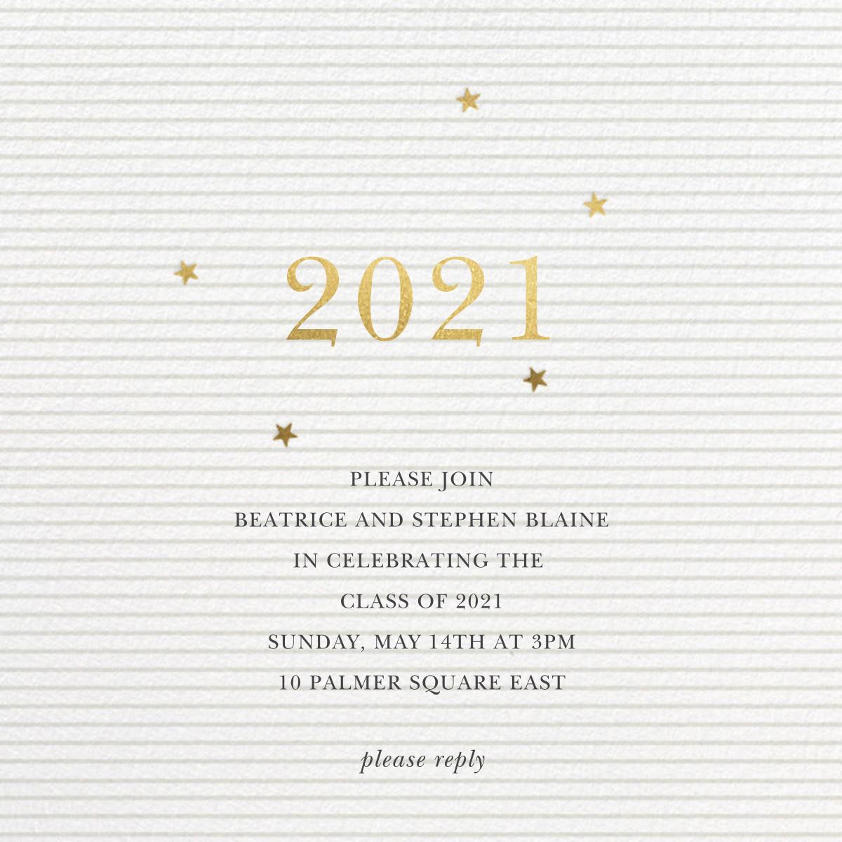 Stars Aligned - Sugar Paper - Graduation party
