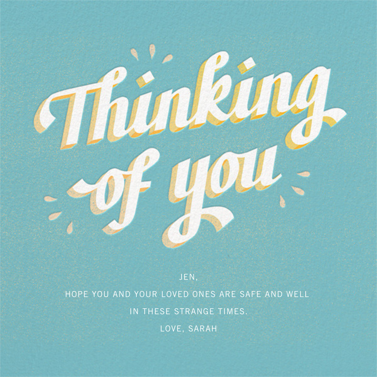 Gold Thoughts - Paperless Post - Thinking of you