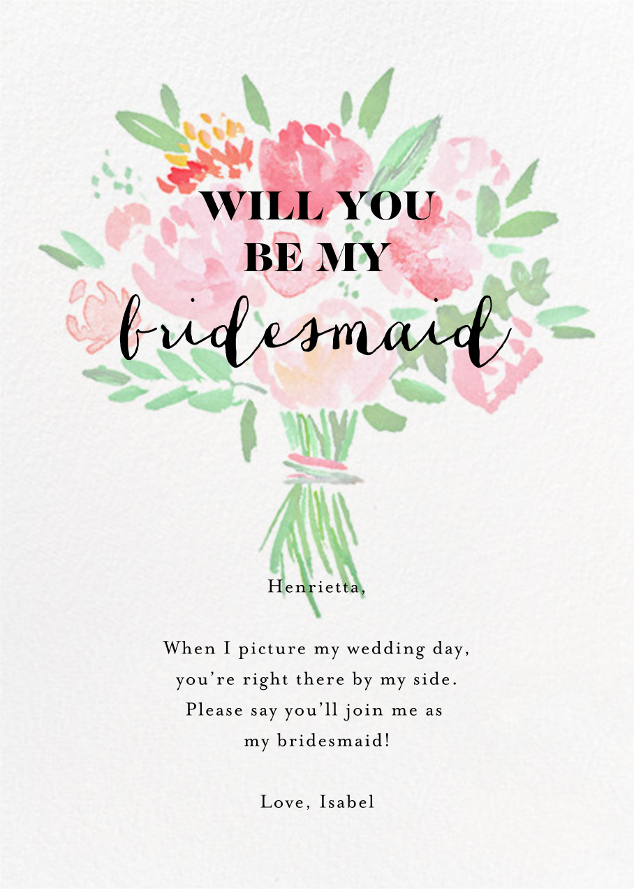 Save the Bloomin' Date - Crate & Barrel - Wedding party requests