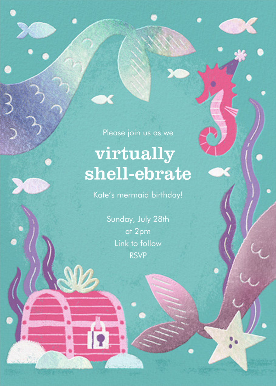 Under the Sea - Paperless Post - Virtual parties