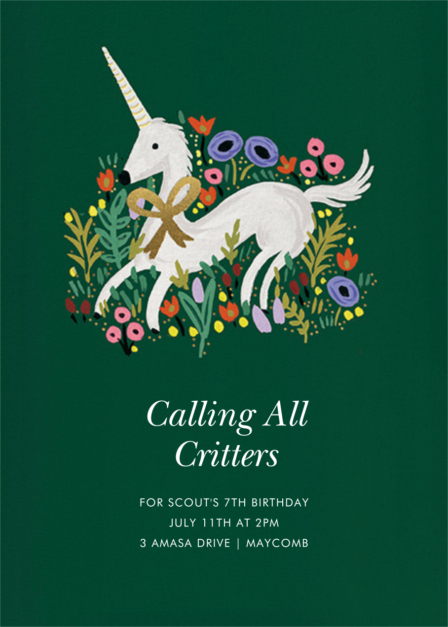 Magical Birthday (Invitation) - Forest Green - Rifle Paper Co.