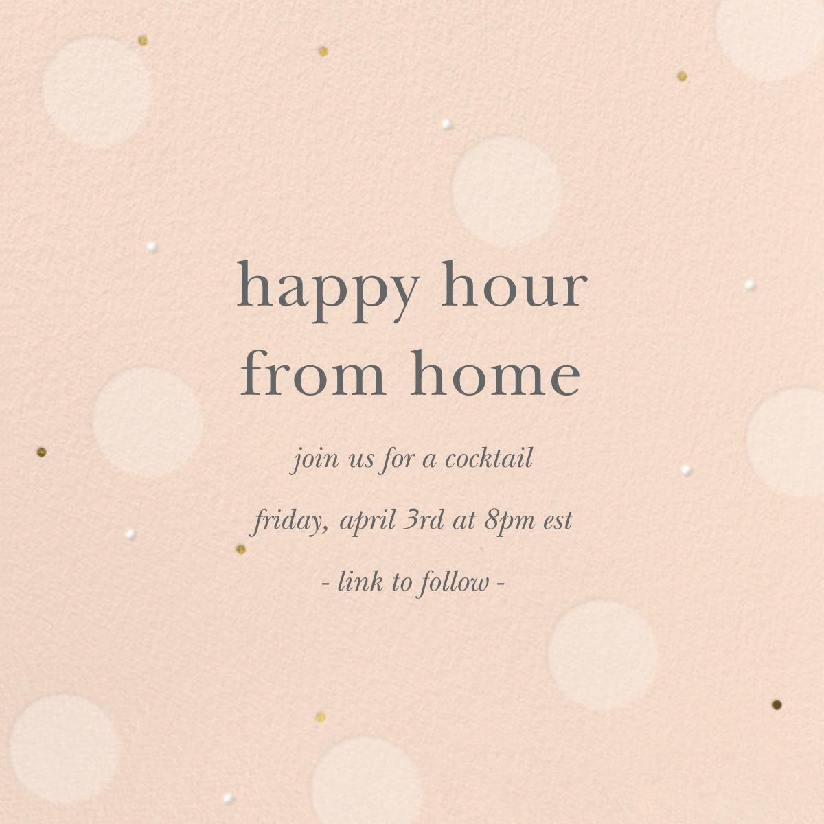 Digital Bubbles - Sugar Paper - Happy hour