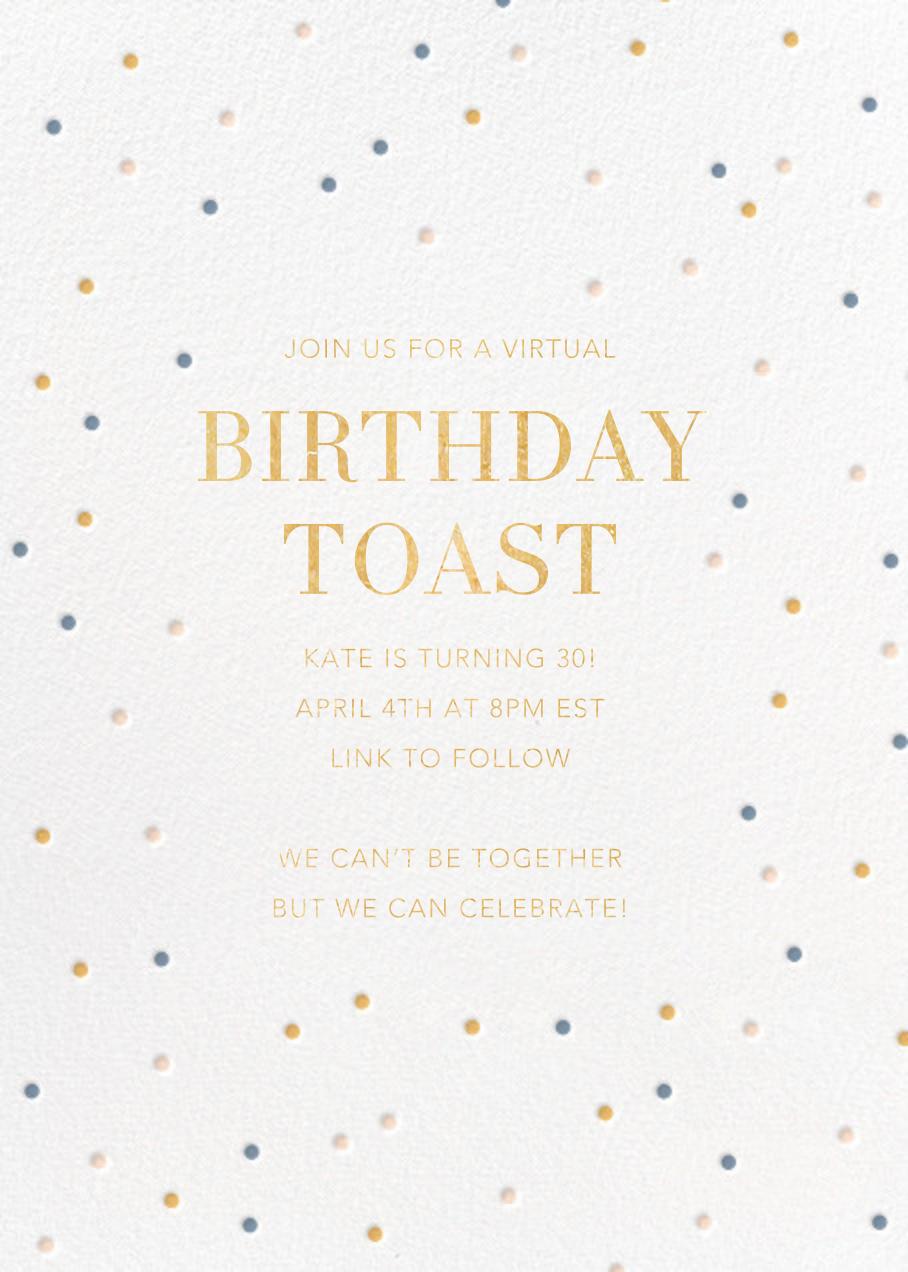 Birthday Spots - White - Sugar Paper - Adult birthday