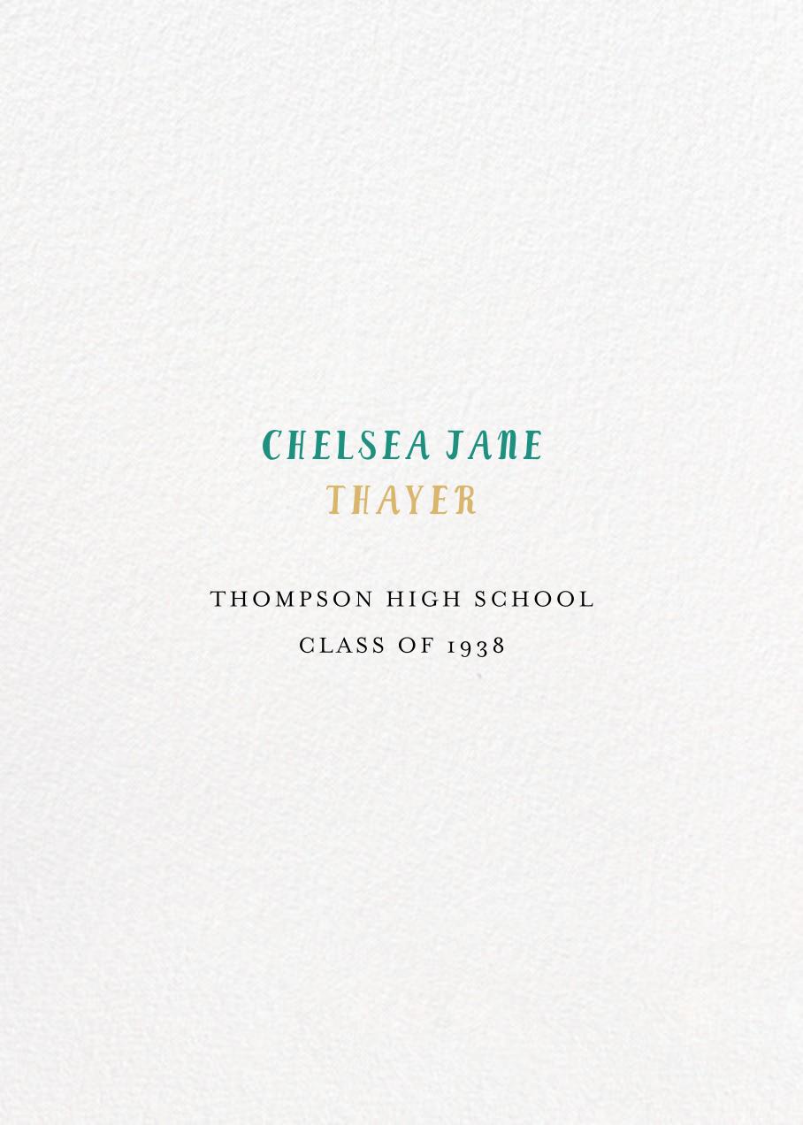 Pastel Caps - Mr. Boddington's Studio - Graduation - card back