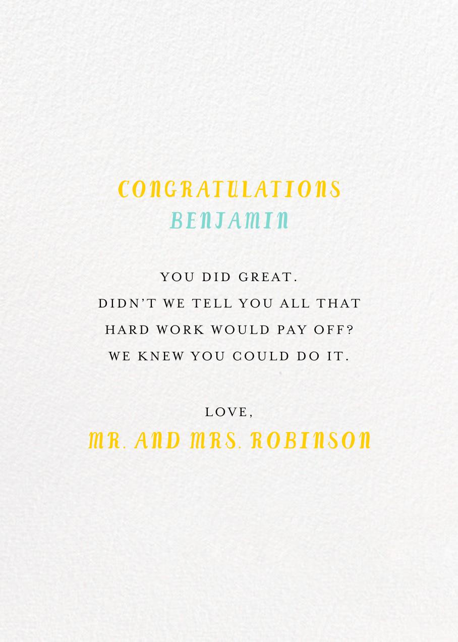 Grad Stacks - Mr. Boddington's Studio - Graduation - card back