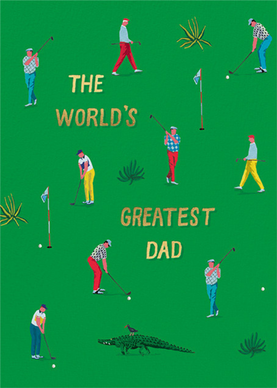 Putting Green (Danielle Kroll) - Red Cap Cards - Father's Day